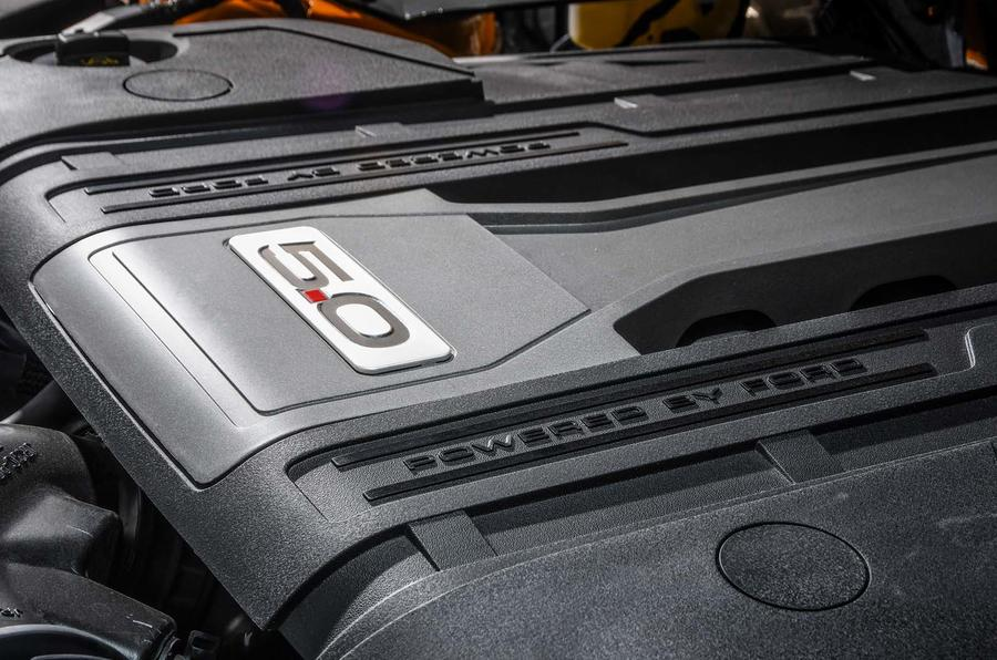 The Ford Mustang's V8