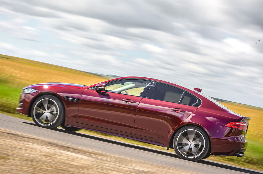 Jaguar XE AWD side profile