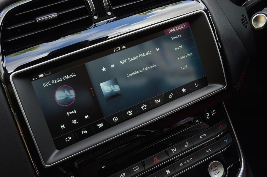 10in Jaguar XE infotainment system