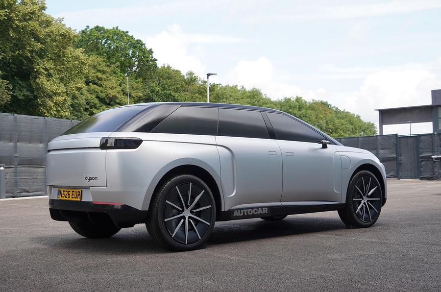 Dyson electric car - rear