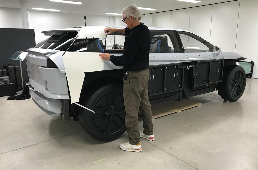 Dyson electric car - mule rear