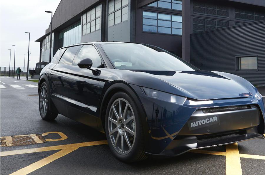 Dyson electric car - mule front