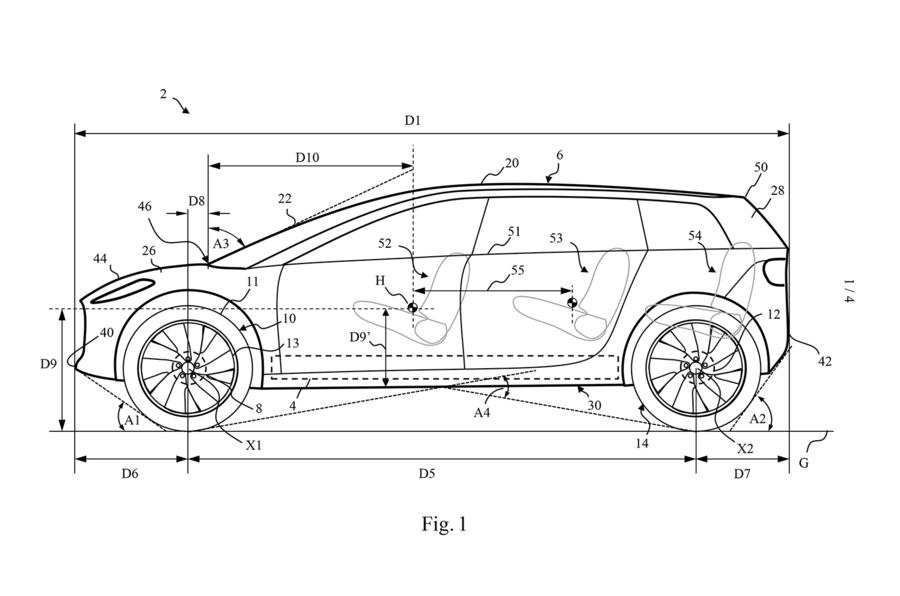 Dyson electric car patent images - patent diagram