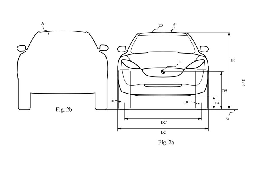 Dyson electric car patent images - front profile