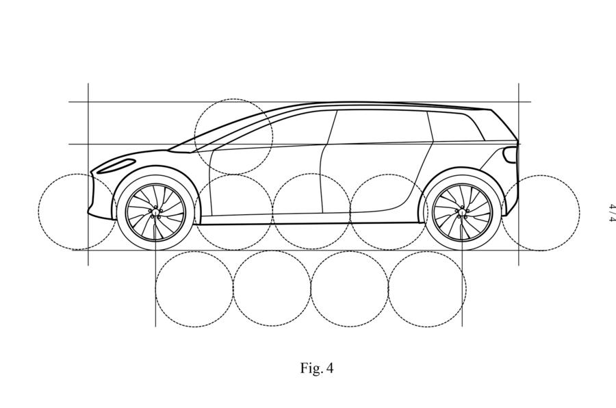Dyson electric car patent images - side profile