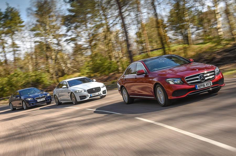 BMW 5 Series vs Jaguar XF vs Mercedes-Benz E-Class - which