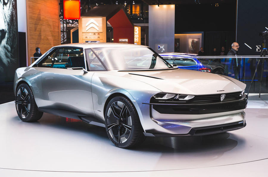 Peugeot e-Legend concept Paris motor show