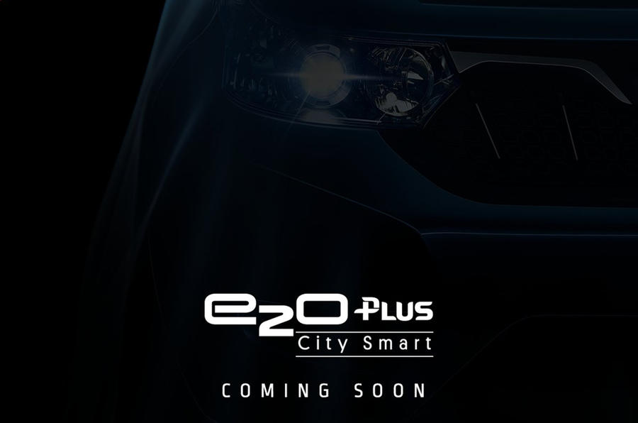 Mahindra teases four-door e2o Plus electric model