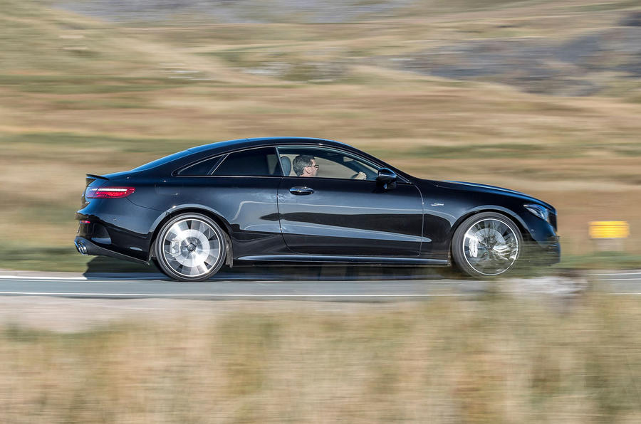 Mercedes-AMG E53 4Matic+ 2018 first drive review on the road side