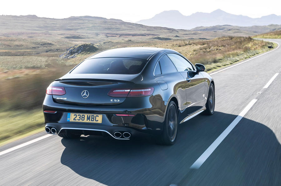 Mercedes-AMG E53 4Matic+ 2018 first drive review hero rear