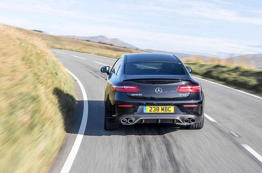 Mercedes-AMG E53 4Matic+ 2018 first drive review on the road rear