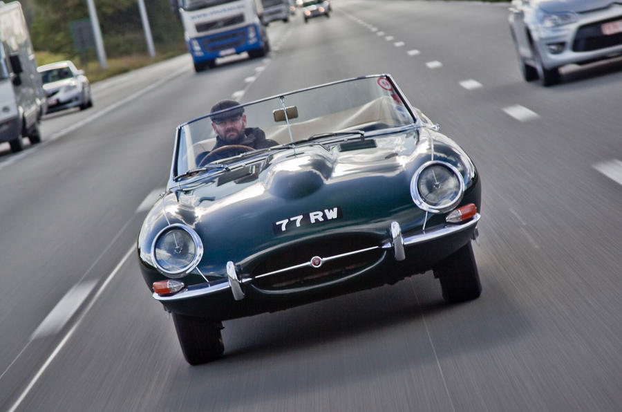 Jaguar E-Type road trip - nose