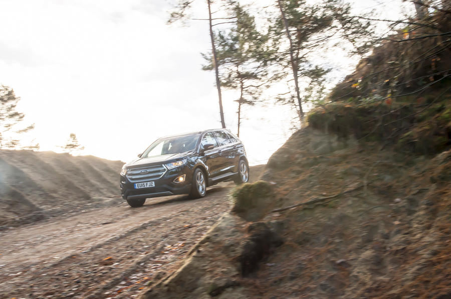 Ford Edge descending a hill