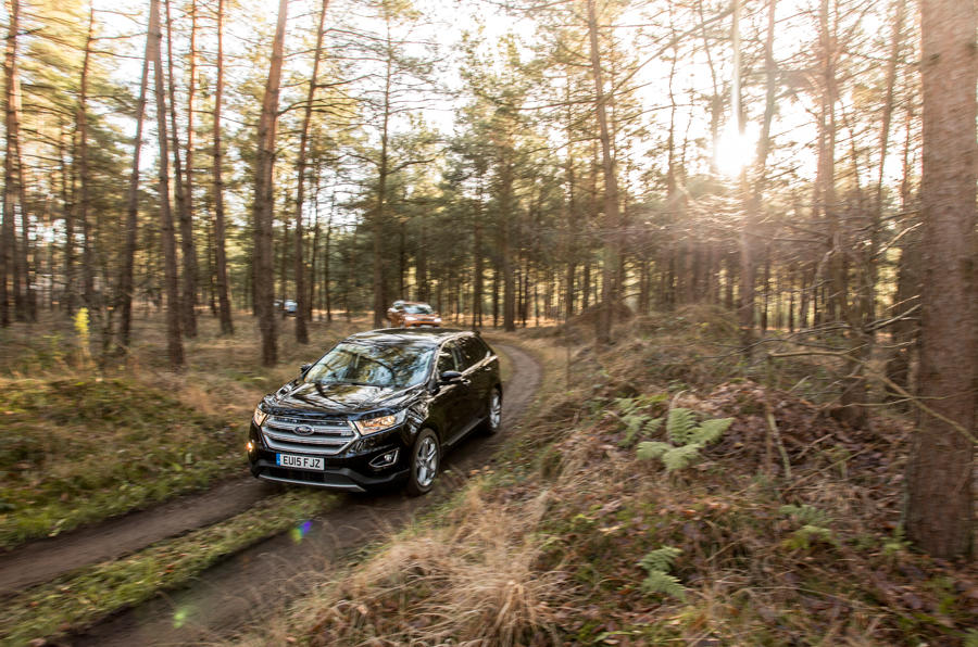 Ford Edge off-roading