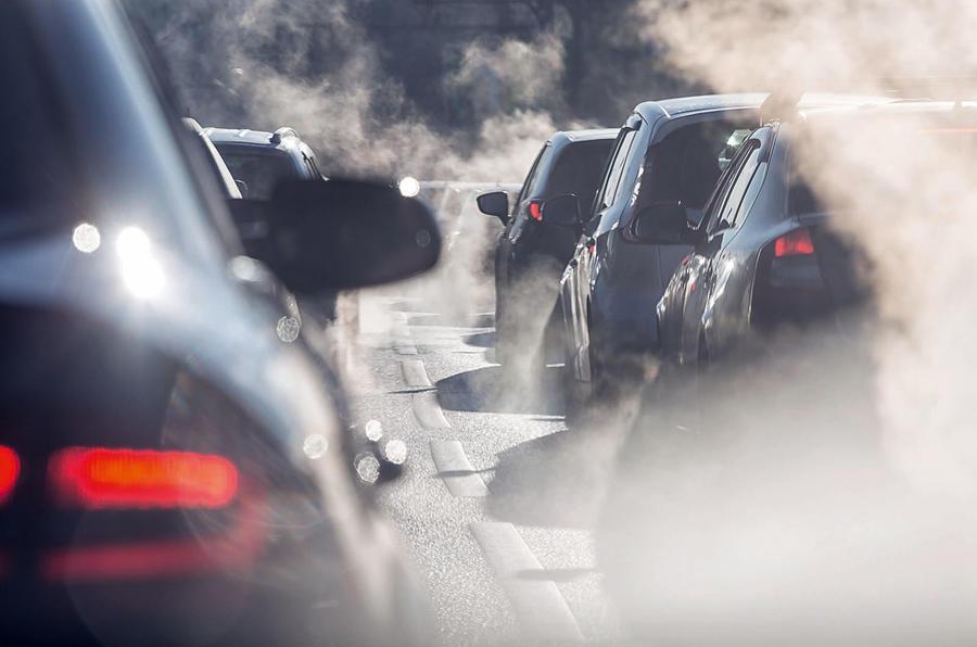 Traffic exhaust fumes