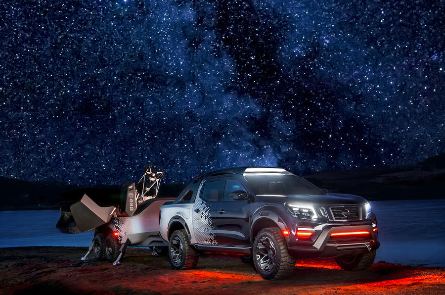 Nissan has transformed a pick-up truck into a mobile space observatory