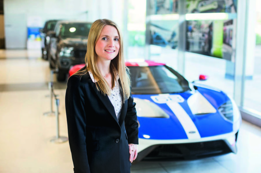 Emma King with Ford GT