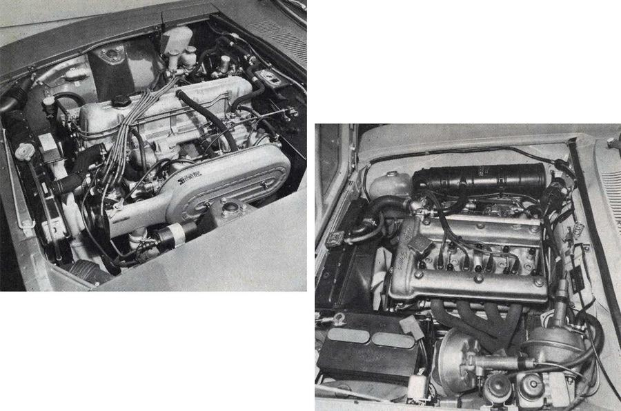 Datsun 240Z and Alfa Romeo 2000 GTV engines