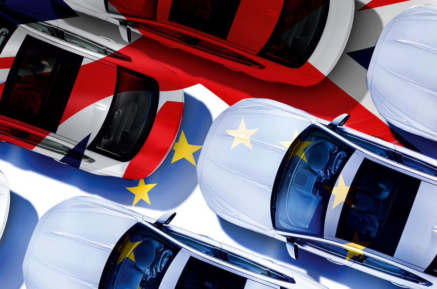 EU flag Union Jack cars