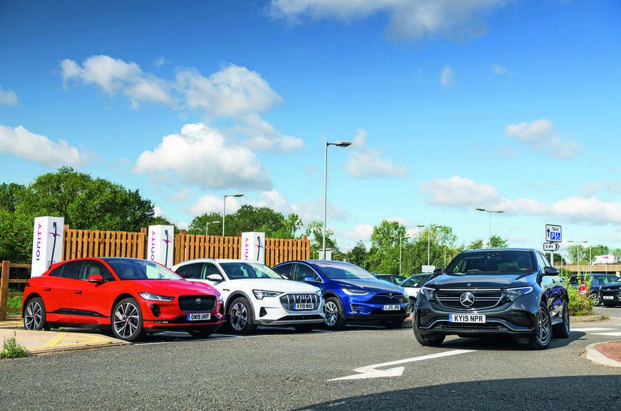Jaguar I-Pace, Mercedes EQC Audi E-tron charging