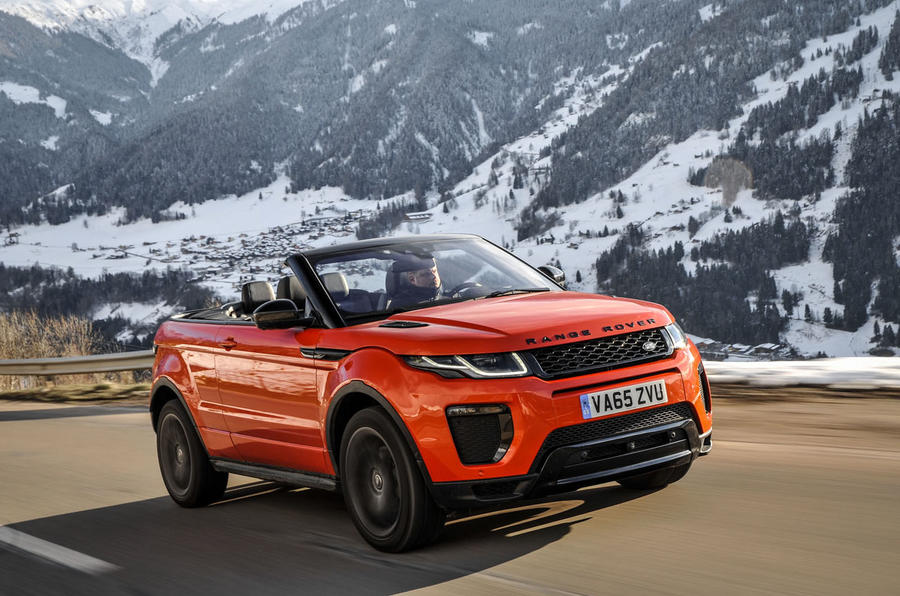 2016 range rover evoque convertible 2 0 td4 180 review review autocar. Black Bedroom Furniture Sets. Home Design Ideas