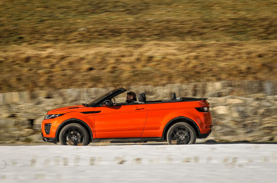 Land Rover Evoque Convertible side profile