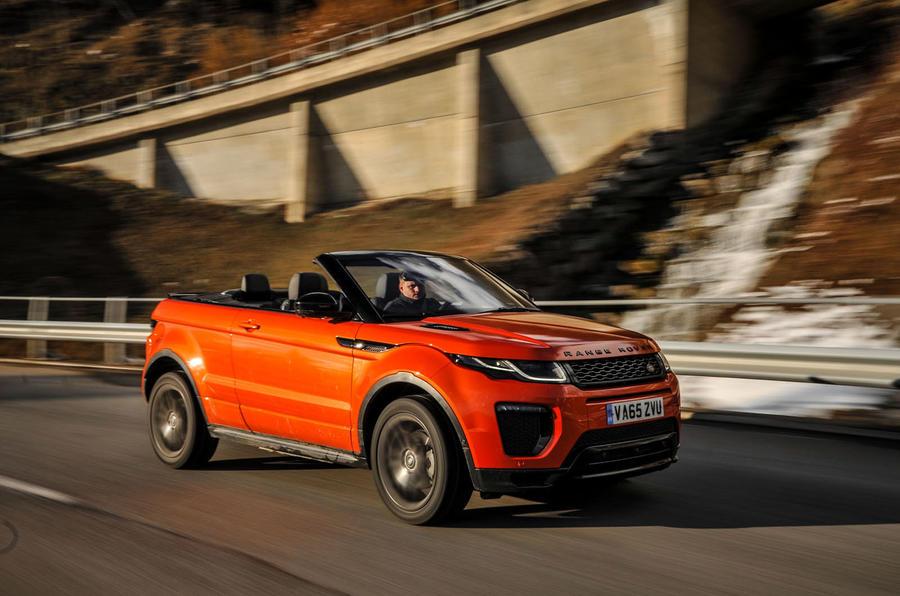 Land Rover Evoque Convertible front quarter