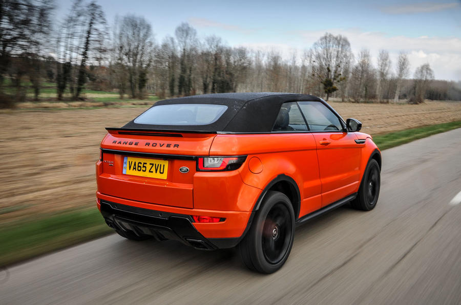 Land Rover Evoque Convertible roof up rear