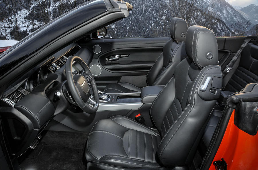 Land Rover Evoque Convertible interior