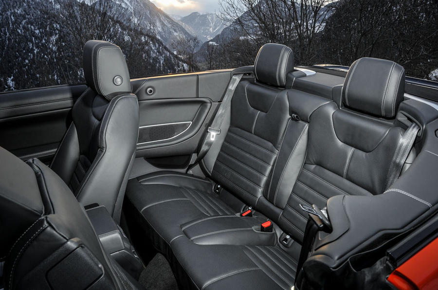 Land Rover Evoque Convertible rear seats