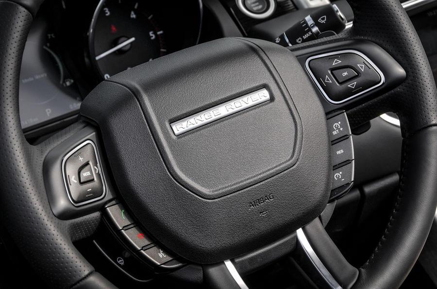 Land Rover Evoque Convertible steering wheel