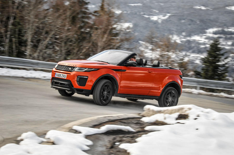 Land Rover Evoque Convertible cornering