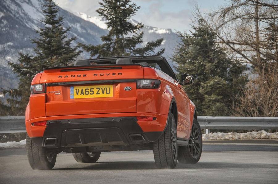 Land Rover Evoque Convertible rear cornering