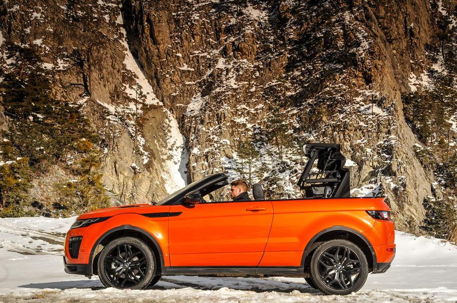 Land Rover Evoque Convertible roof opening
