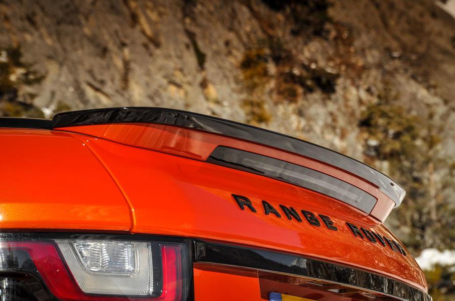 Land Rover Evoque Convertible spoiler