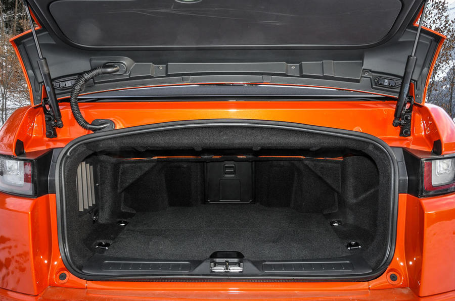 Land Rover Evoque Convertible boot space