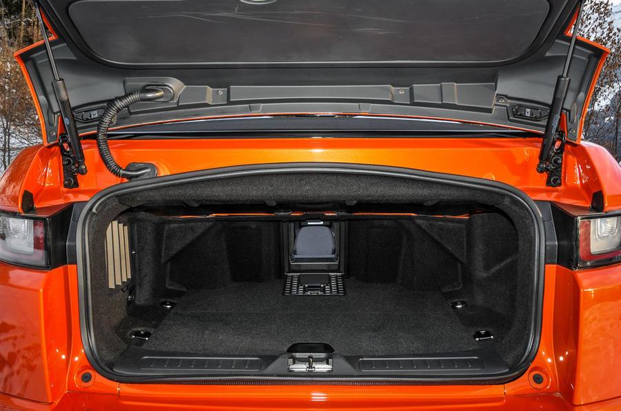 Land Rover Evoque Convertible seat flexibility