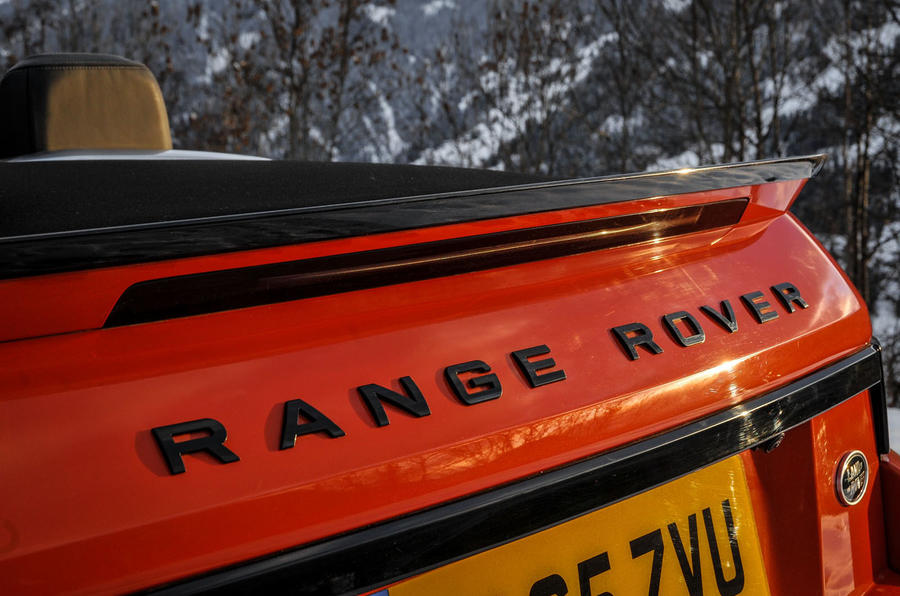Land Rover rear badging