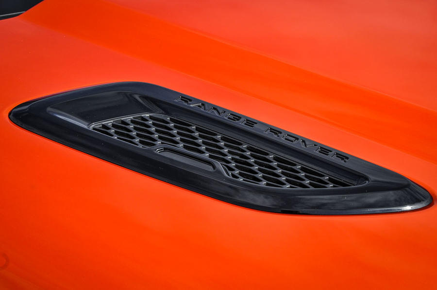 Land Rover Evoque Convertible air vents