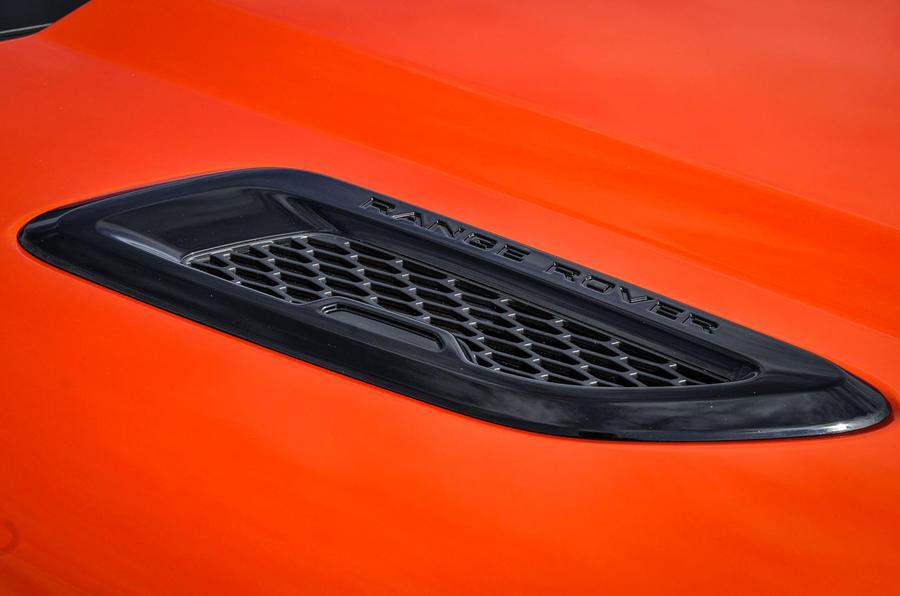 Land Rover Evoque Convertible air vents
