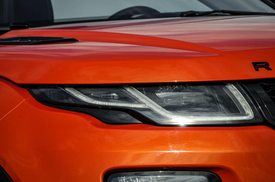 Land Rover Evoque Convertible headlights