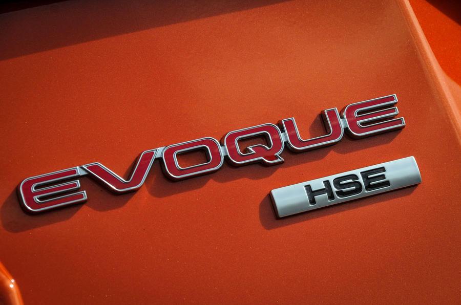Land Rover Evoque Convertible badging