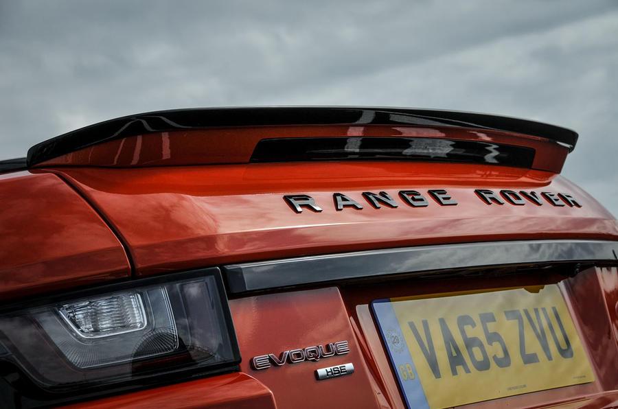 Land Rover Evoque Convertible rear spoiler