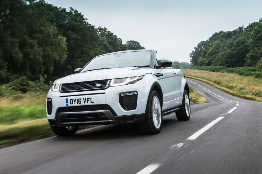 range rover evoque convertible heads off road autocar. Black Bedroom Furniture Sets. Home Design Ideas
