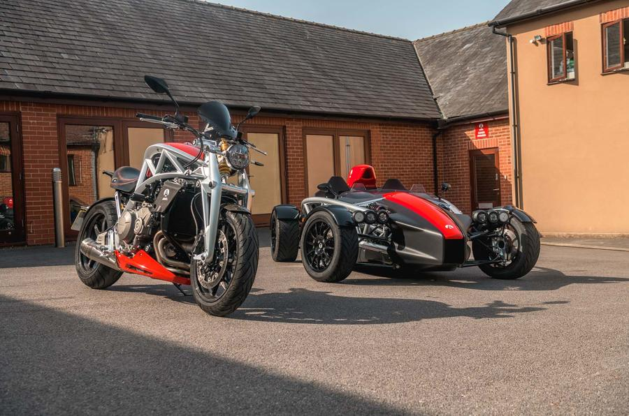 Ariel assault: Atom 4 and the Ace motorbike driven