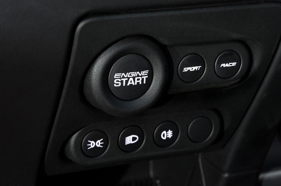 Lotus Exige Sport 350 ignition button