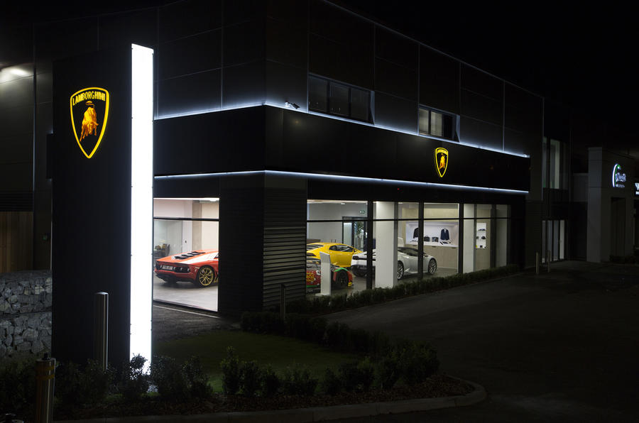 Lamborghini's new corporate signage