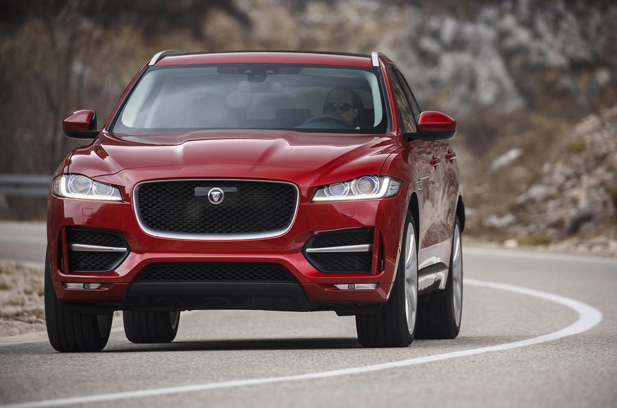 Jaguar F-Pace front end