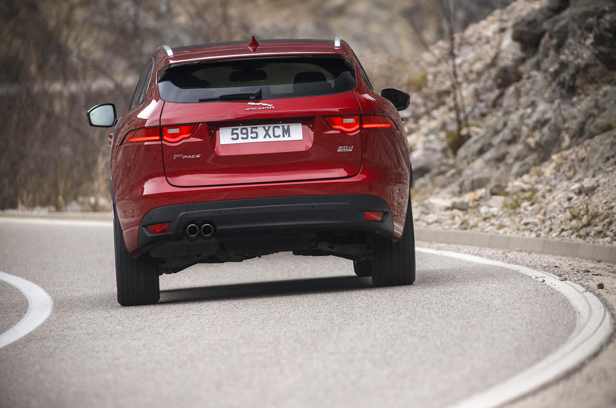 Rear end of the Jaguar F-Pace