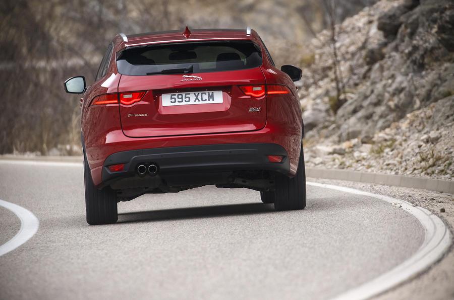 Rear end of the Jaguar F-Pace